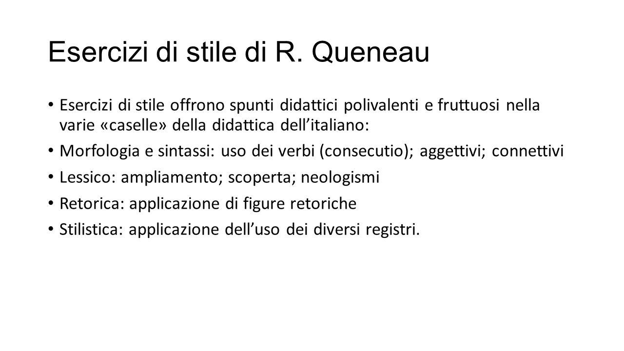 Esercizi di stile di R. Queneau