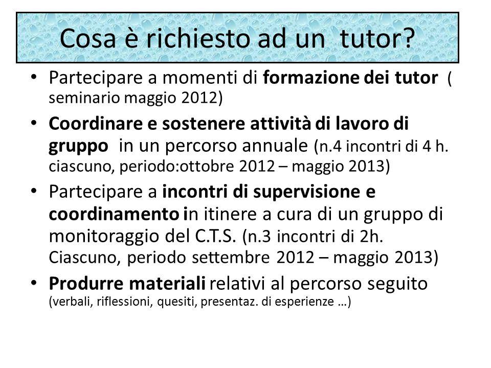 Cosa è richiesto ad un tutor