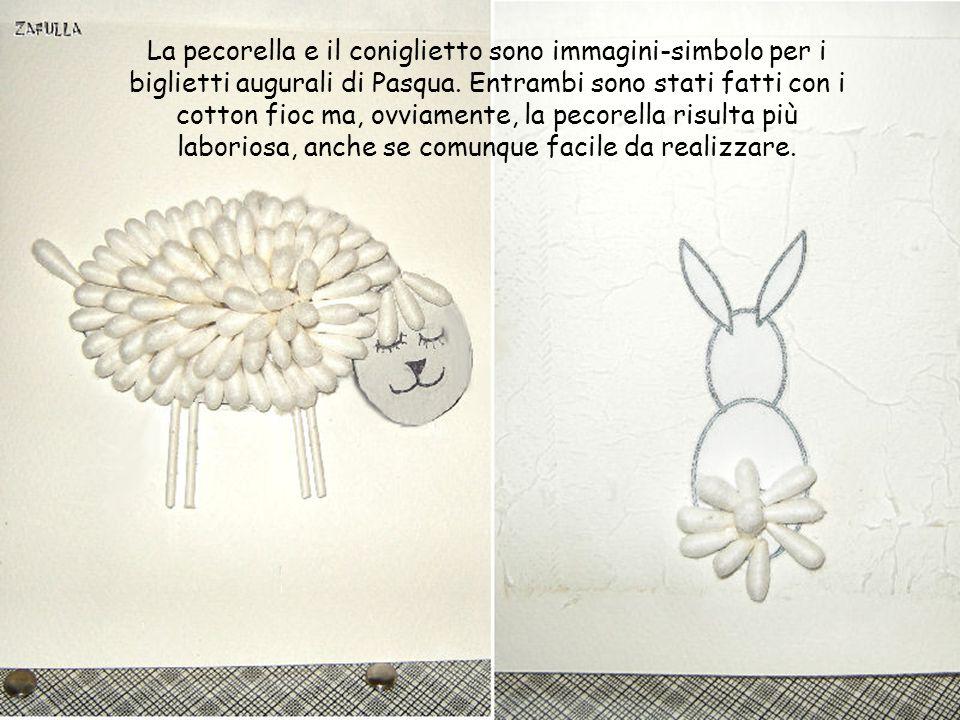 La pecorella e il coniglietto sono immagini-simbolo per i biglietti augurali di Pasqua.