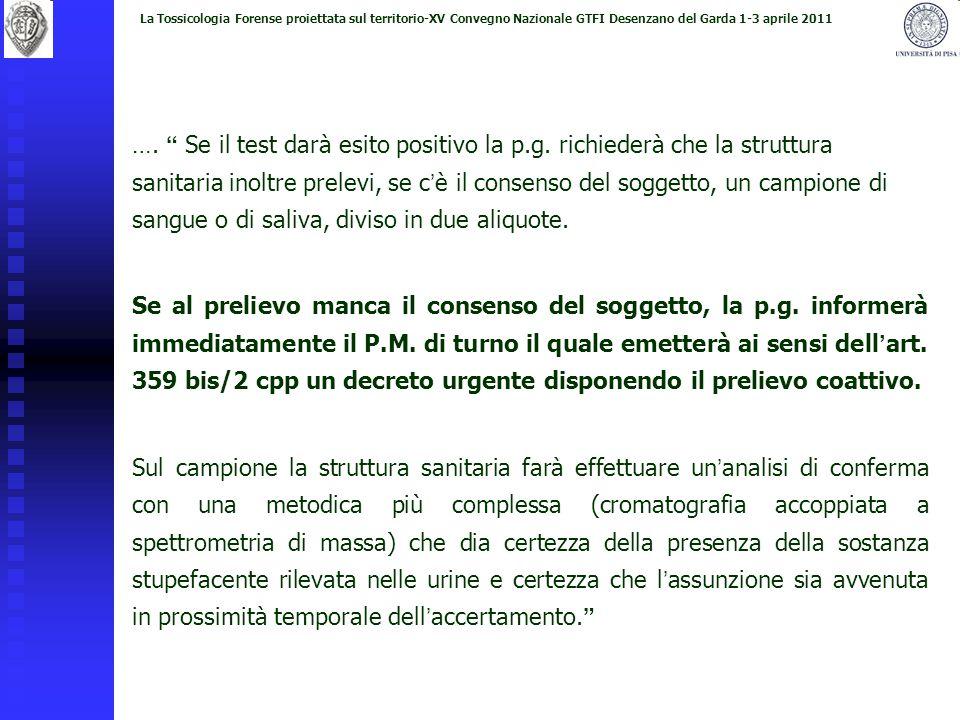 La Tossicologia Forense proiettata sul territorio-XV Convegno Nazionale GTFI Desenzano del Garda 1-3 aprile 2011