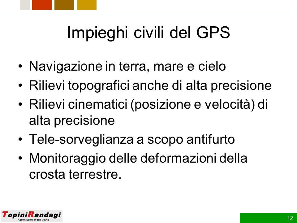 Impieghi civili del GPS