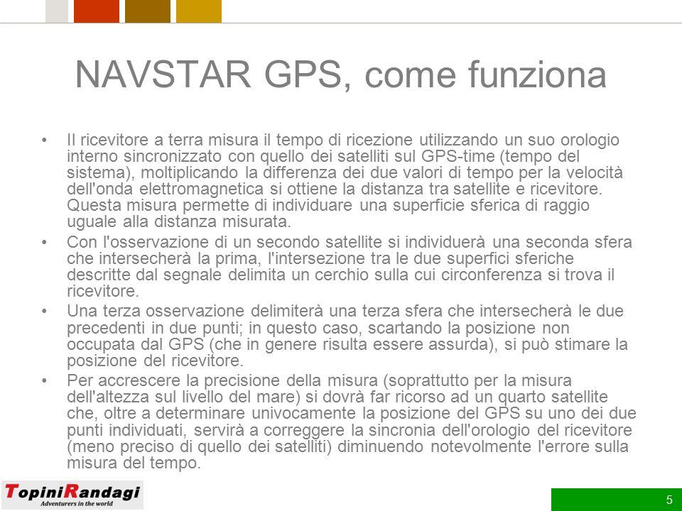 NAVSTAR GPS, come funziona