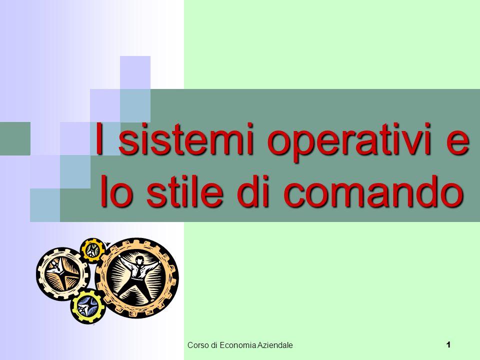 I sistemi operativi e lo stile di comando