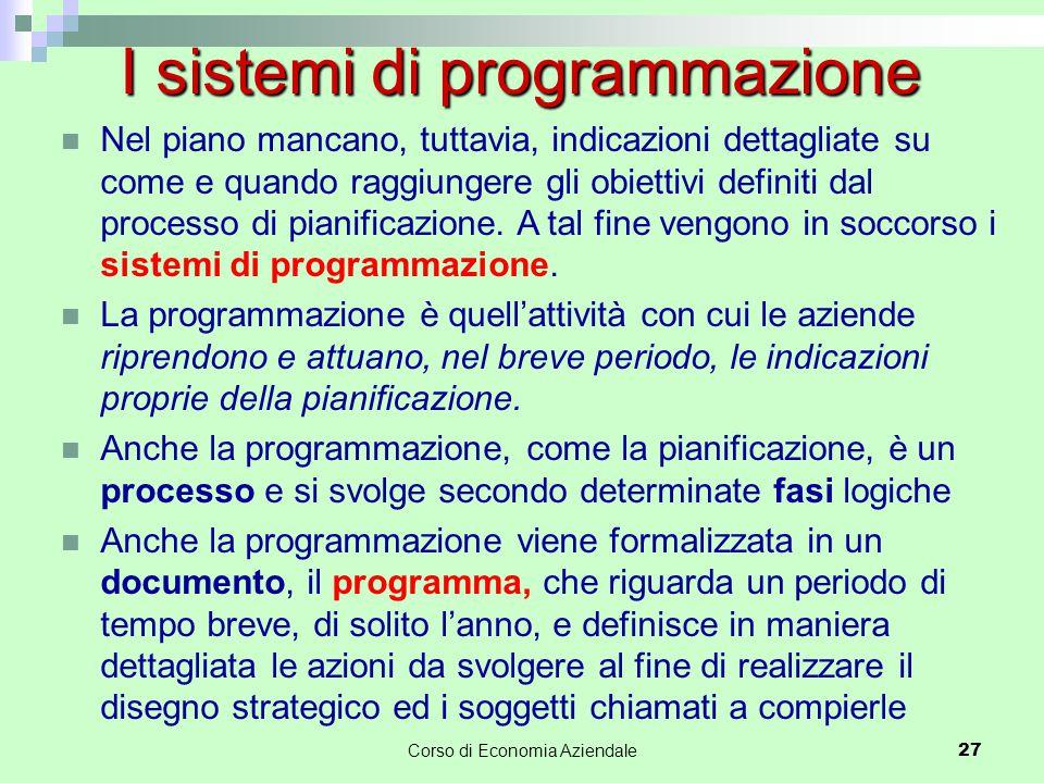 I sistemi di programmazione