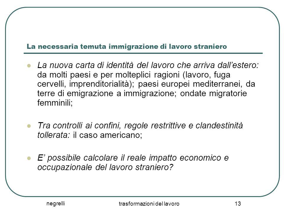 La necessaria temuta immigrazione di lavoro straniero