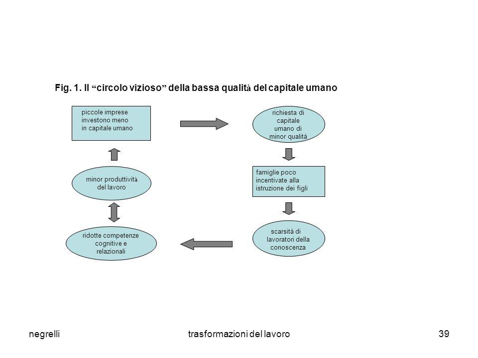 Fig. 1. Il circolo vizioso della bassa qualità del capitale umano