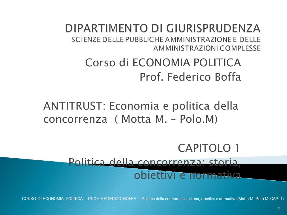 DIPARTIMENTO DI GIURISPRUDENZA SCIENZE DELLE PUBBLICHE AMMINISTRAZIONE E DELLE AMMINISTRAZIONI COMPLESSE