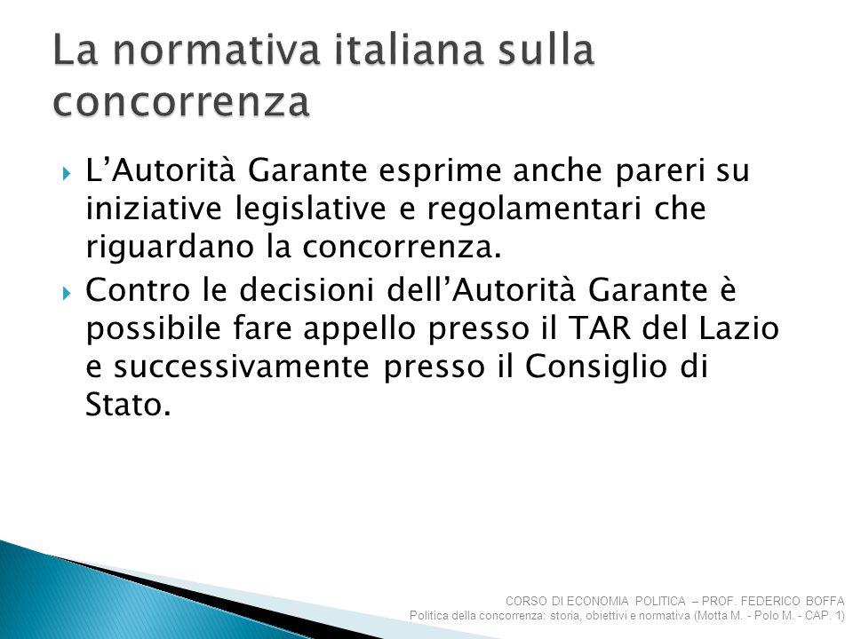 La normativa italiana sulla concorrenza