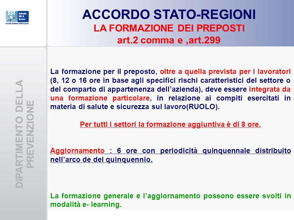 ACCORDO STATO-REGIONI