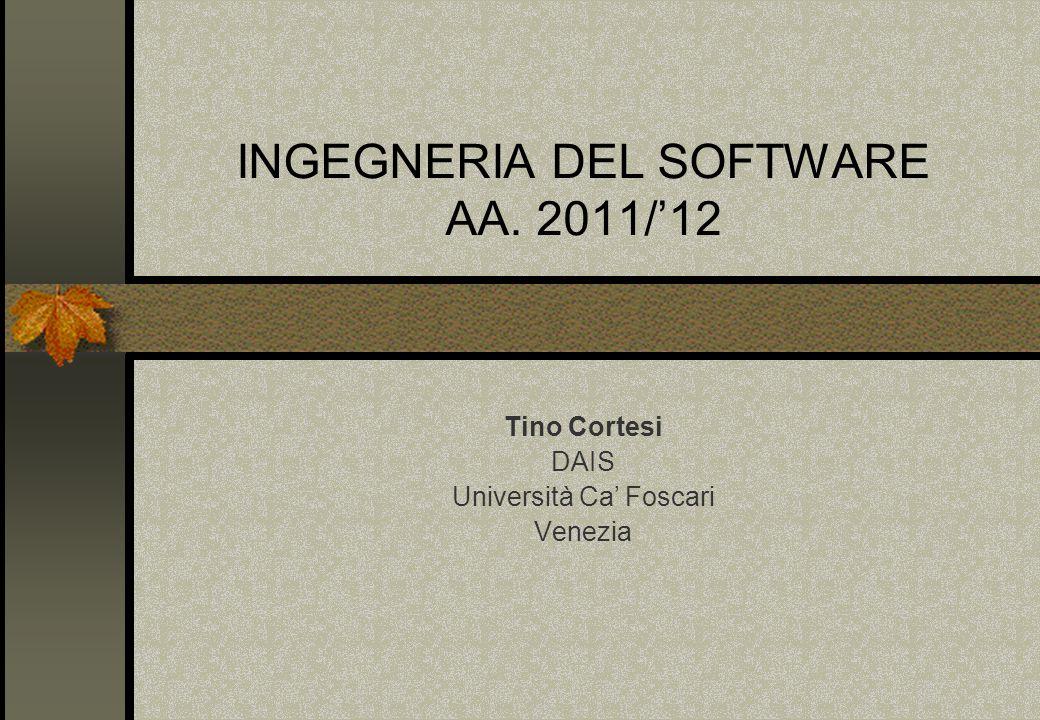 INGEGNERIA DEL SOFTWARE AA. 2011/'12