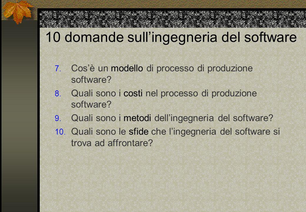 10 domande sull'ingegneria del software