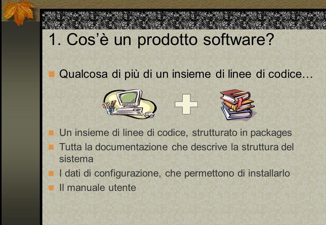 1. Cos'è un prodotto software