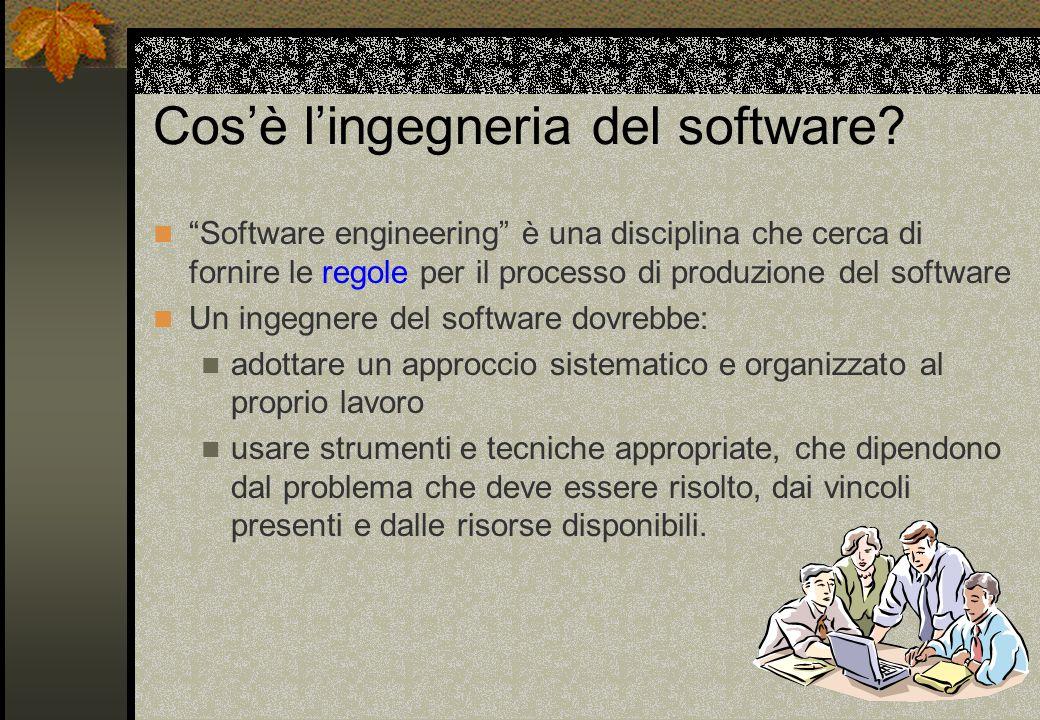 Cos'è l'ingegneria del software