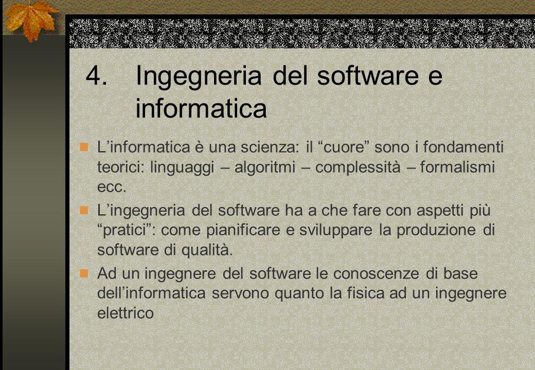 4. Ingegneria del software e informatica