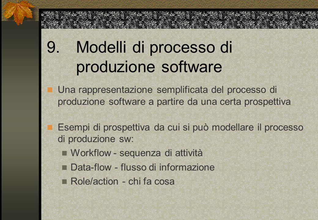 9. Modelli di processo di produzione software