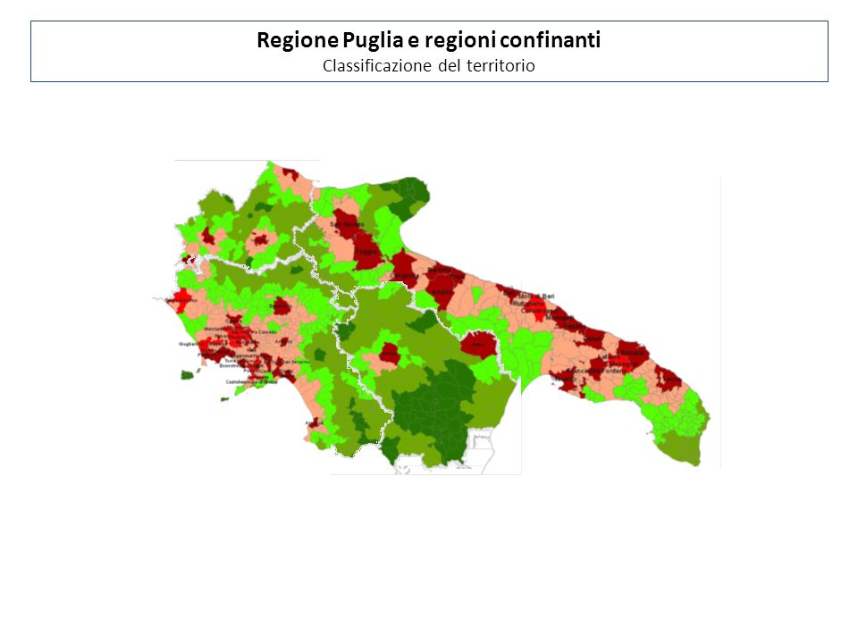 Regione Puglia e regioni confinanti