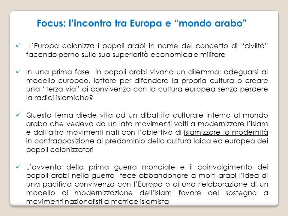 Focus: l'incontro tra Europa e mondo arabo
