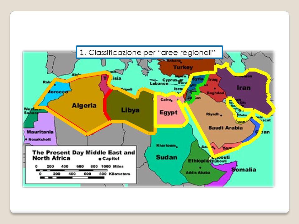 1. Classificazione per aree regionali