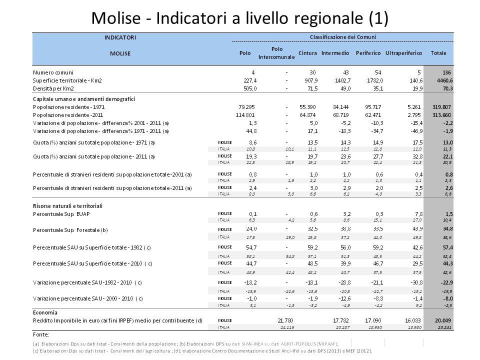 Molise - Indicatori a livello regionale (1)
