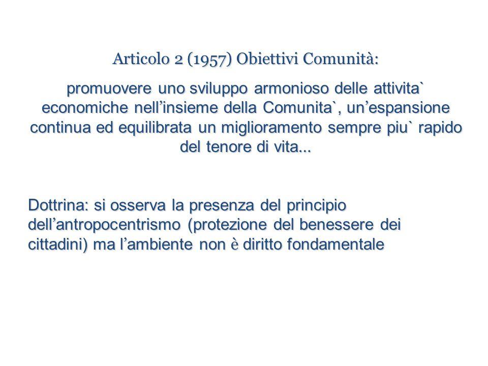 Articolo 2 (1957) Obiettivi Comunità: