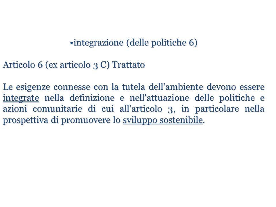 integrazione (delle politiche 6)