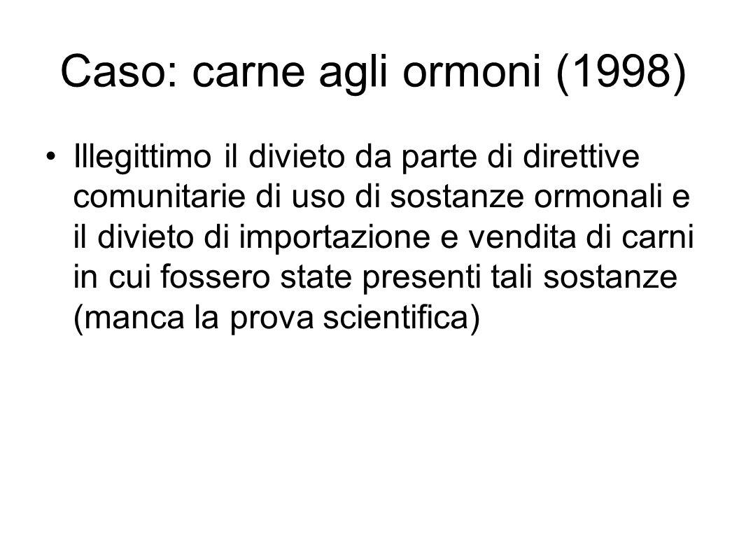 Caso: carne agli ormoni (1998)