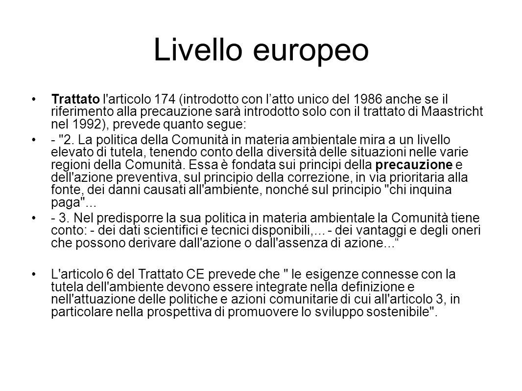 Livello europeo