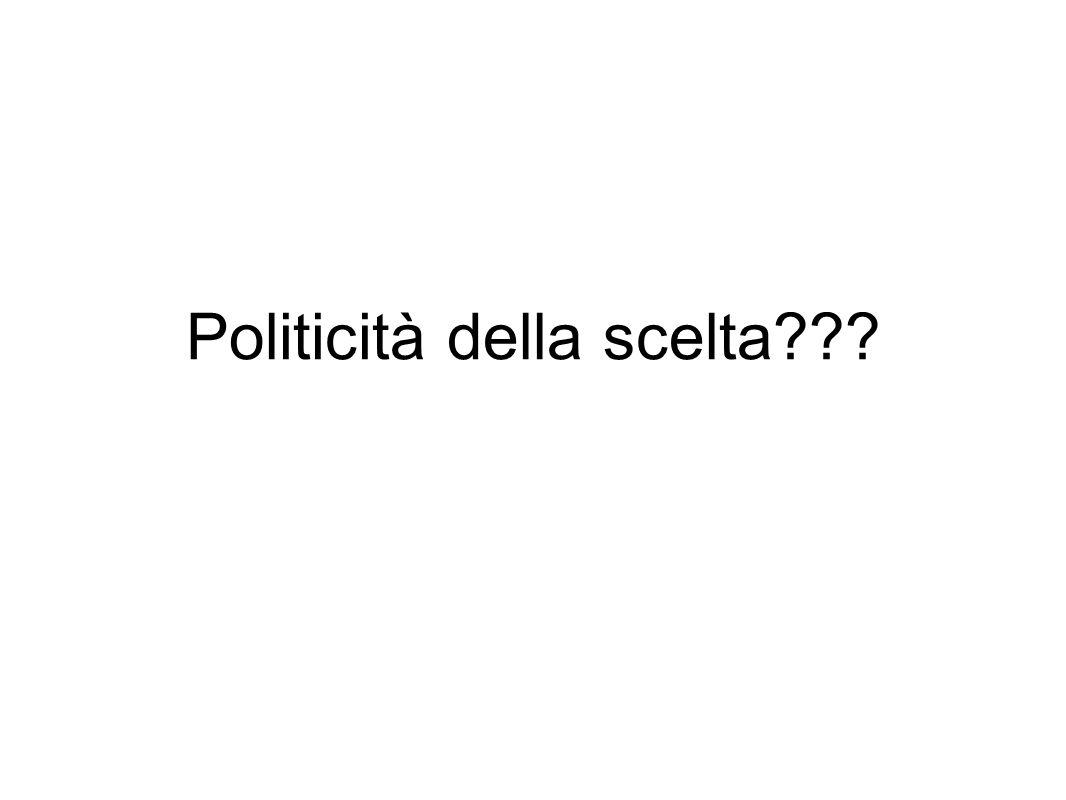 Politicità della scelta