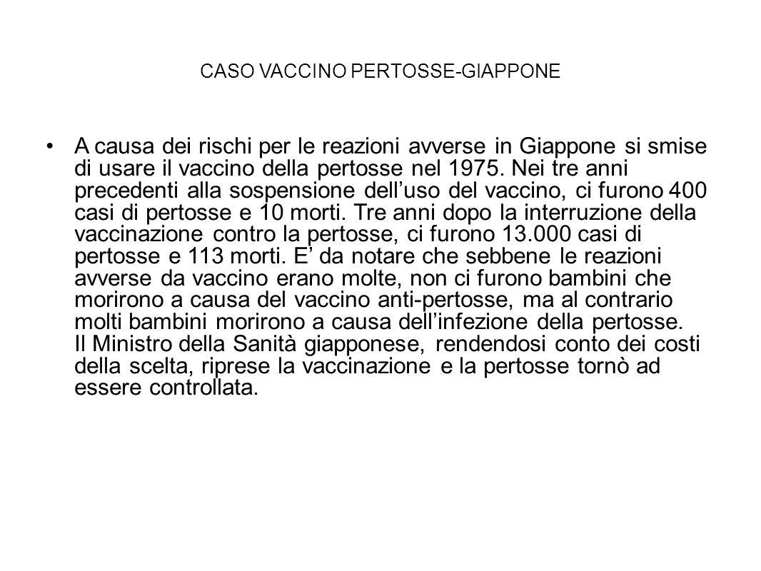CASO VACCINO PERTOSSE-GIAPPONE