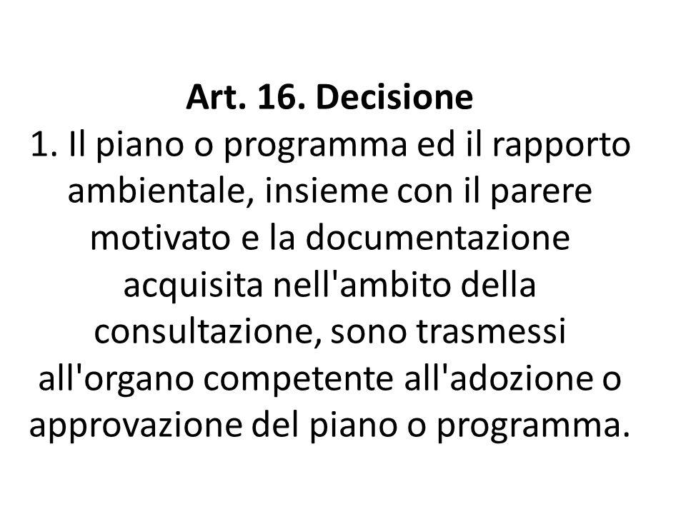 Art. 16. Decisione 1.