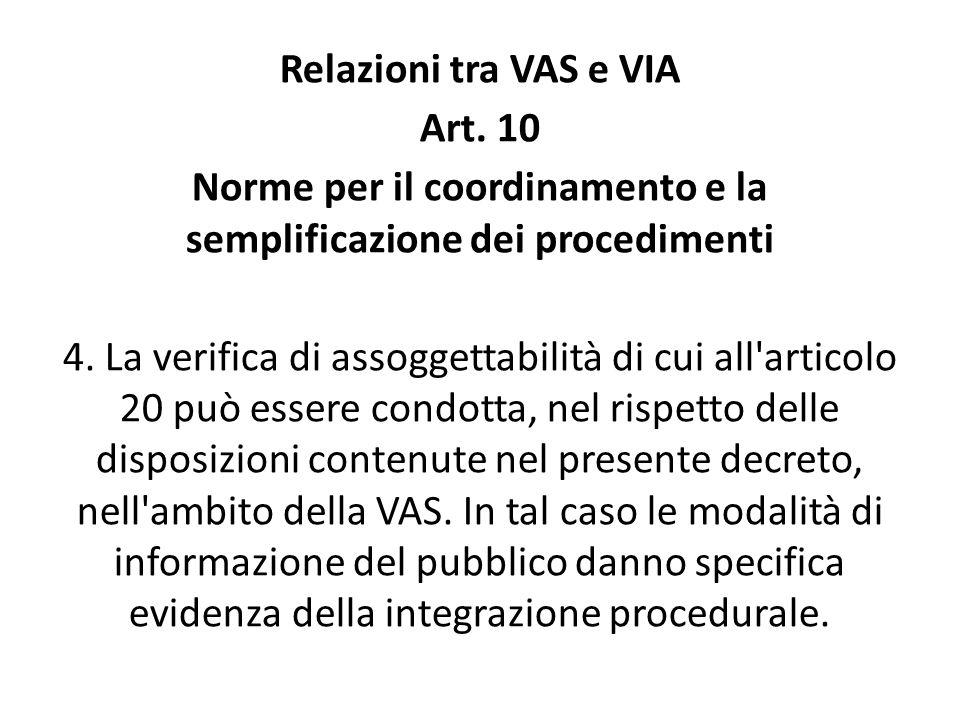 Norme per il coordinamento e la semplificazione dei procedimenti
