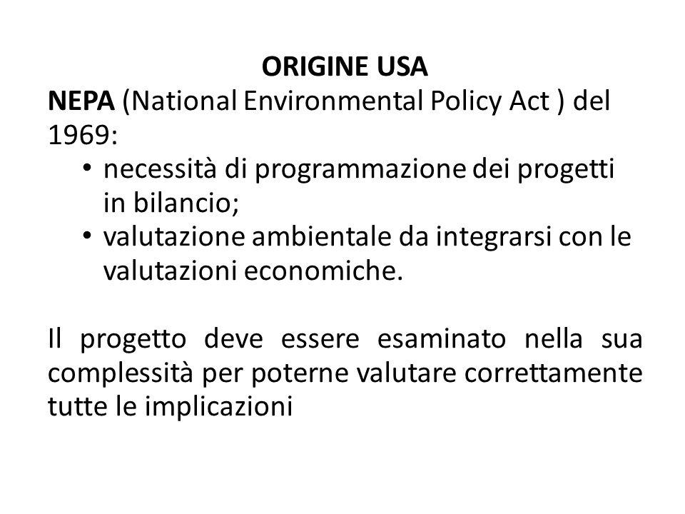 NEPA (National Environmental Policy Act ) del 1969: