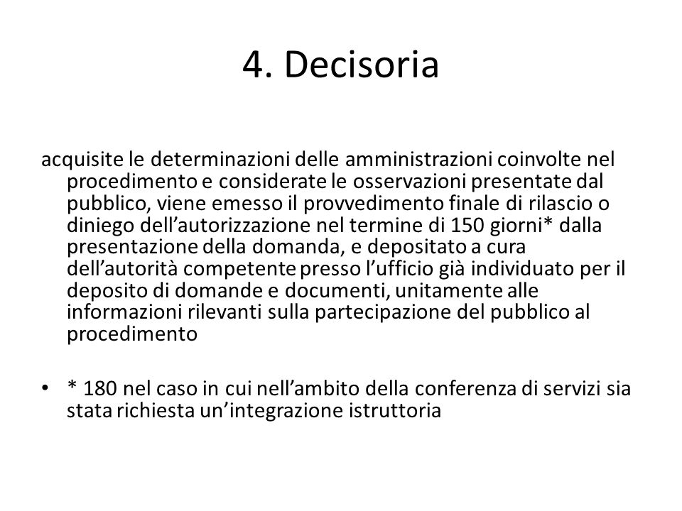 4. Decisoria