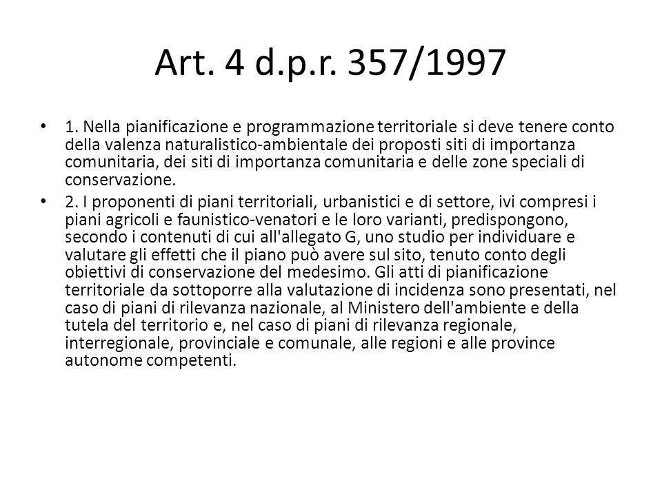 Art. 4 d.p.r. 357/1997