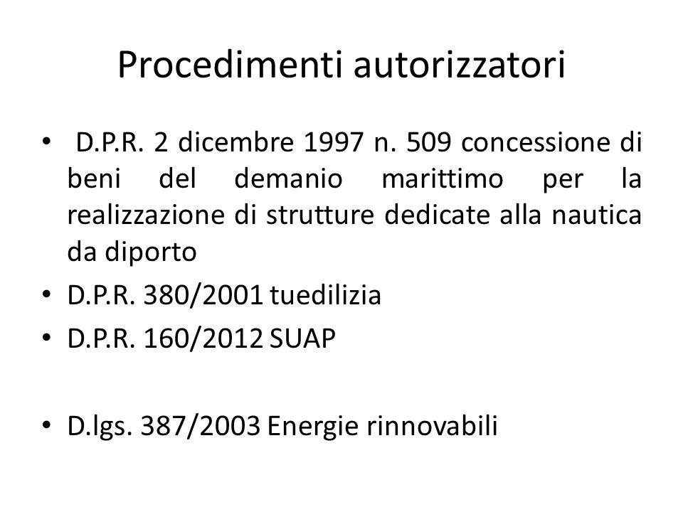 Procedimenti autorizzatori