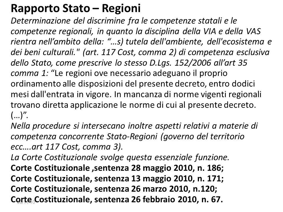 Rapporto Stato – Regioni