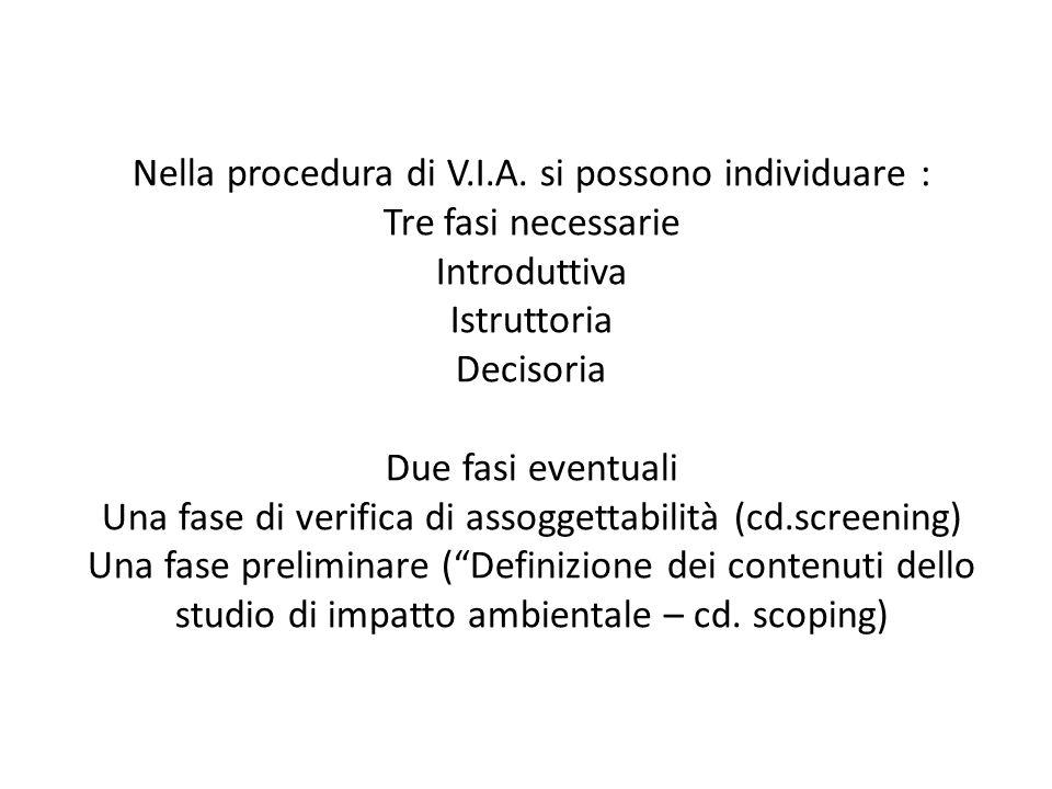 Nella procedura di V.I.A.