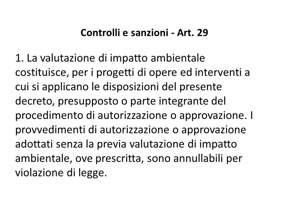 Controlli e sanzioni - Art. 29