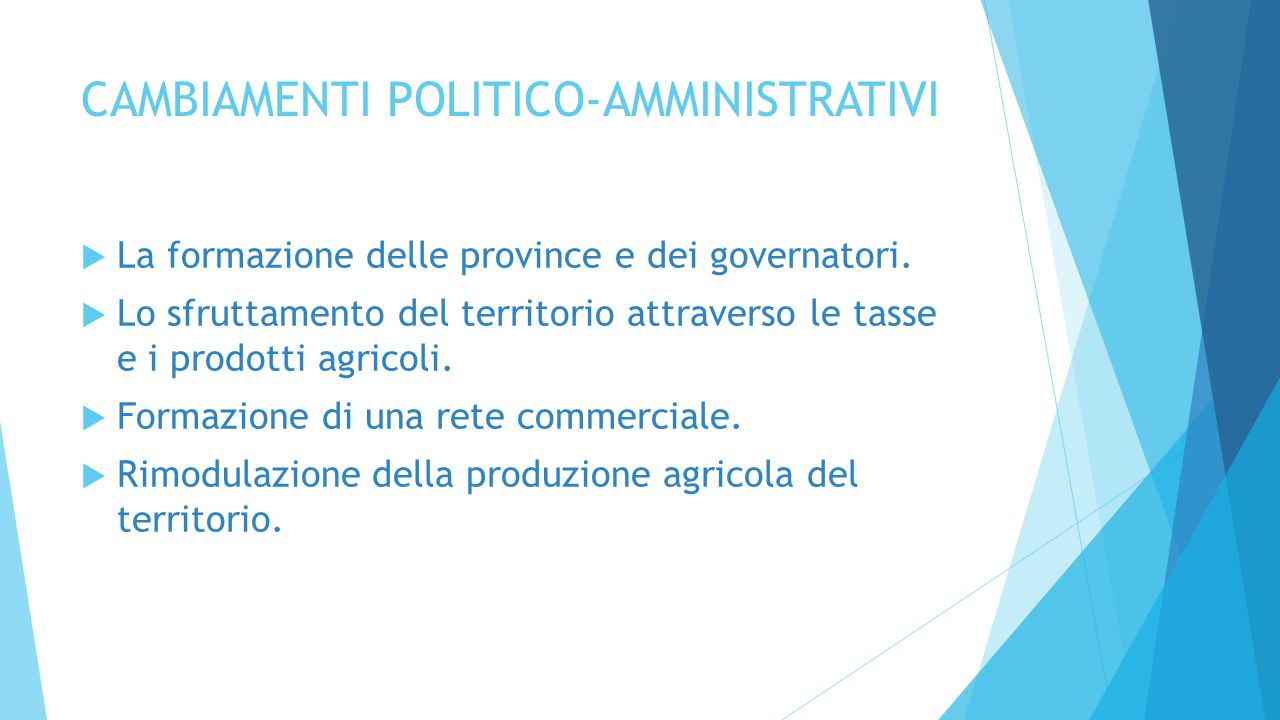 CAMBIAMENTI POLITICO-AMMINISTRATIVI