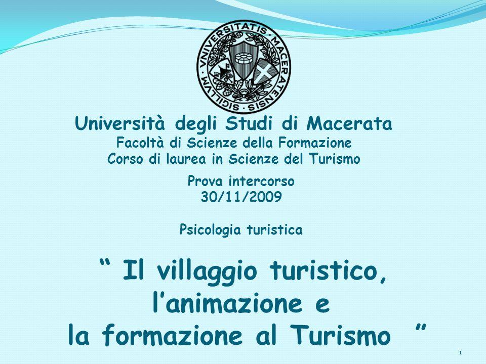 l'animazione e la formazione al Turismo
