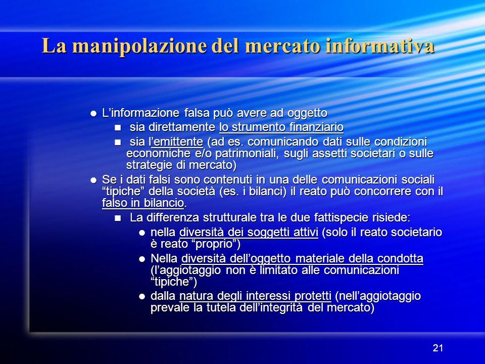 La manipolazione del mercato informativa