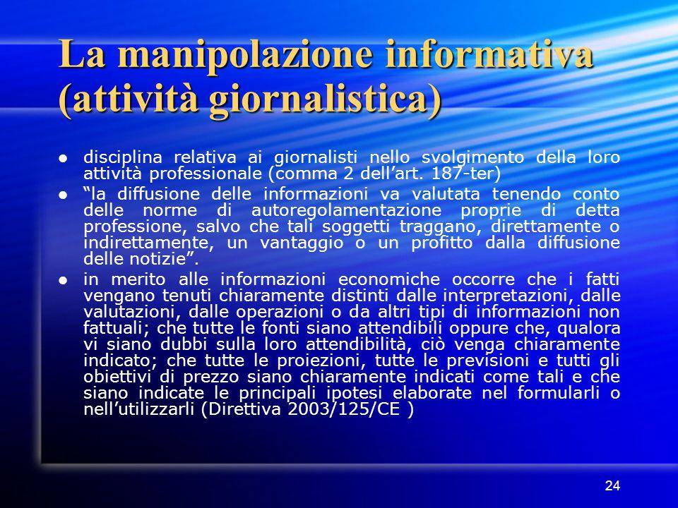 La manipolazione informativa (attività giornalistica)