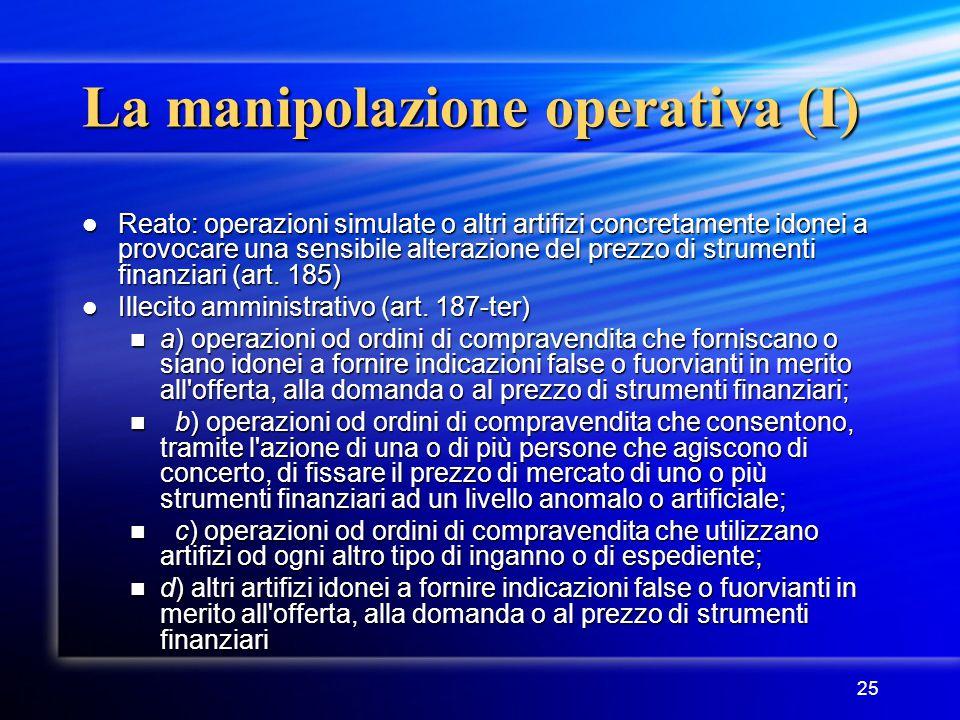 La manipolazione operativa (I)