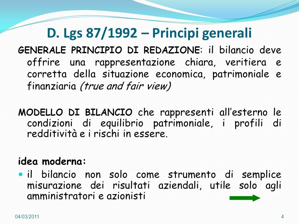 D. Lgs 87/1992 – Principi generali