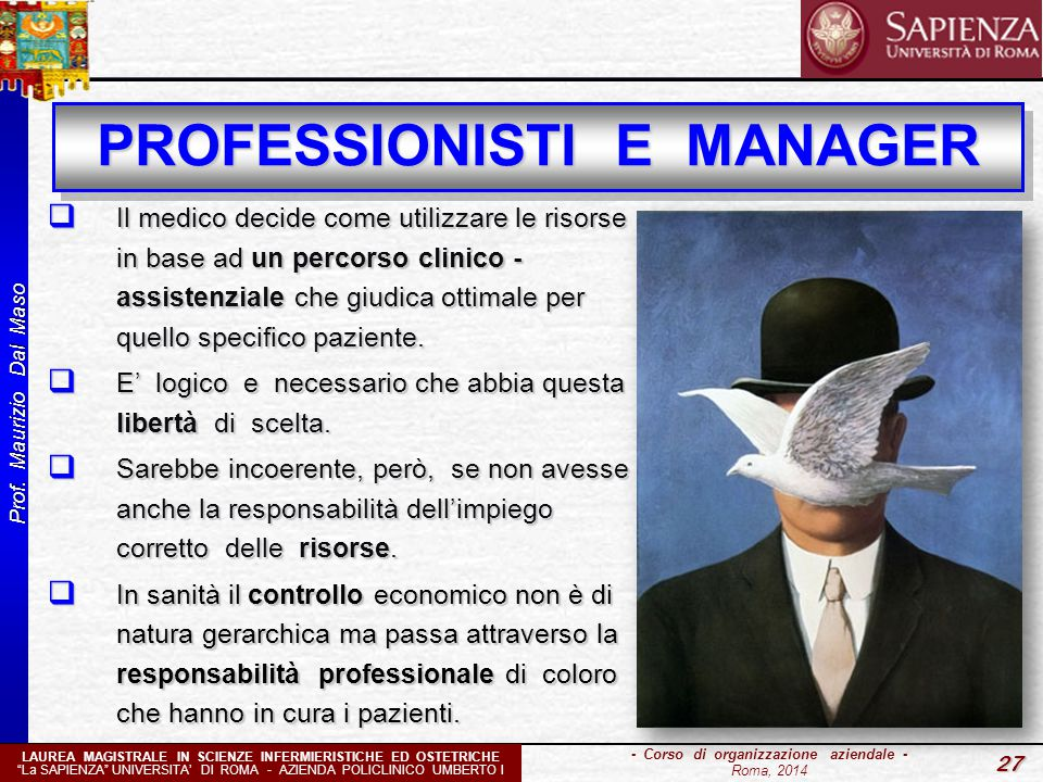 PROFESSIONISTI E MANAGER