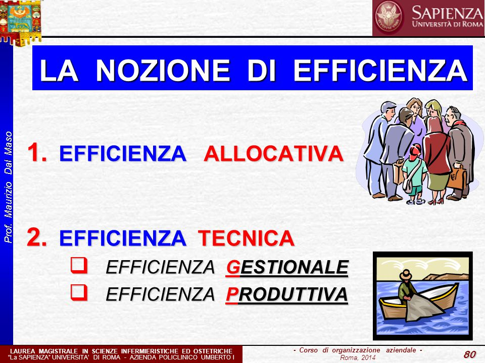 LA NOZIONE DI EFFICIENZA