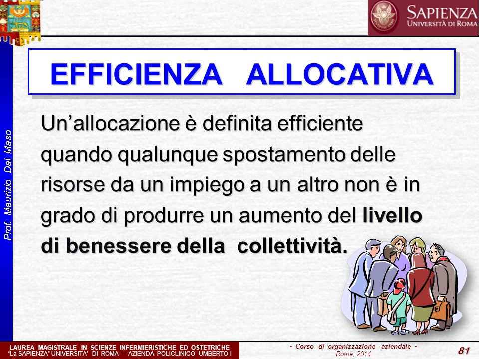 EFFICIENZA ALLOCATIVA