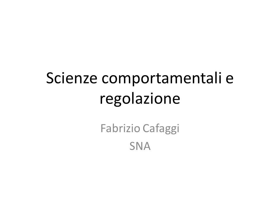 Scienze comportamentali e regolazione