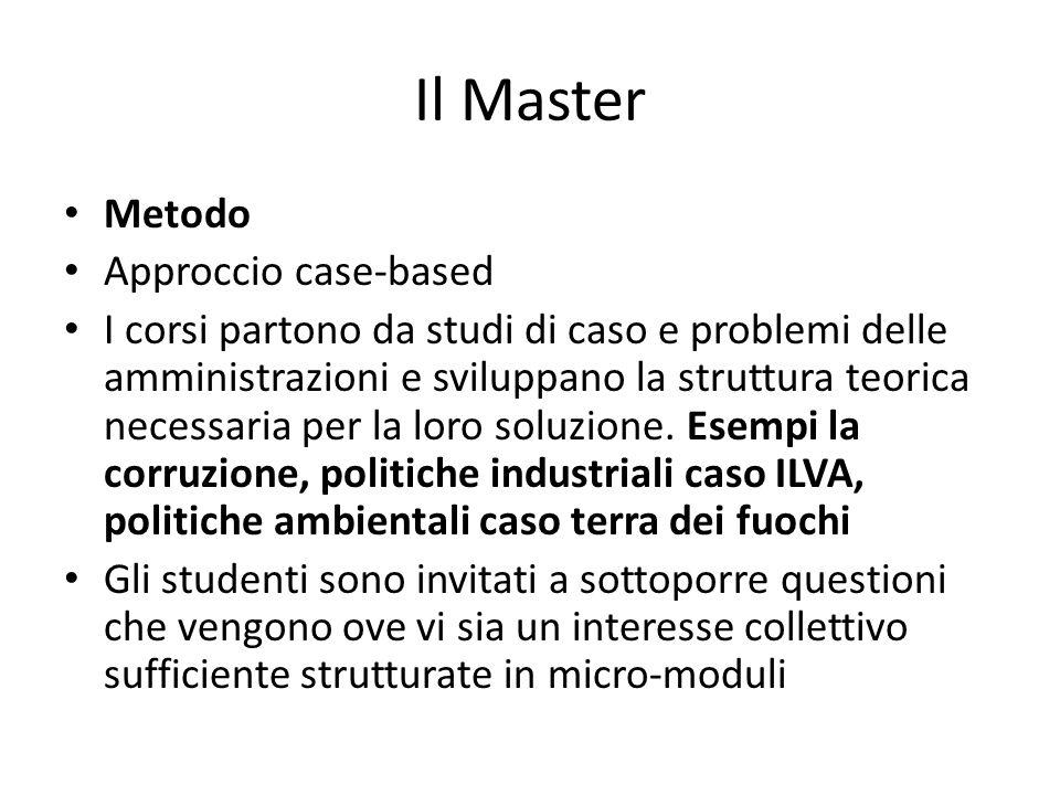 Il Master Metodo Approccio case-based
