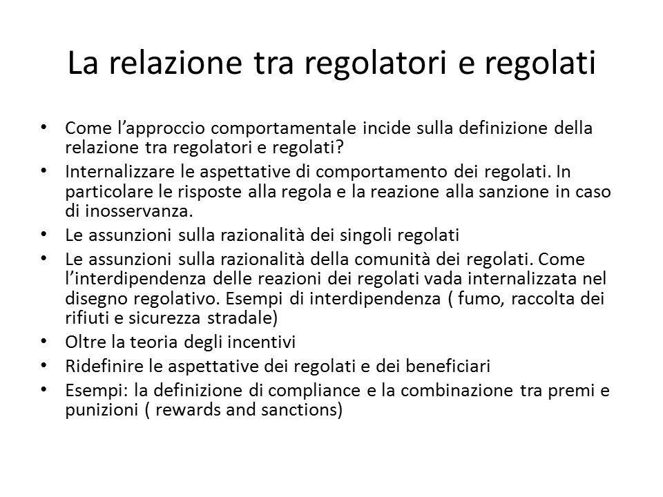 La relazione tra regolatori e regolati